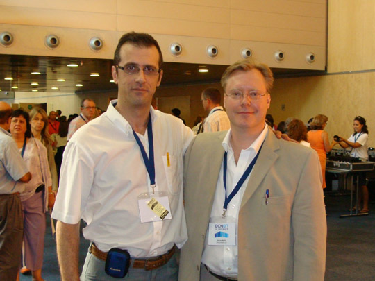 Miguel Ángel Jiménez Ortiz con Adrian Wells