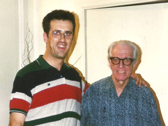 Miguel Ángel Jiménez Ortiz con Albert Ellis