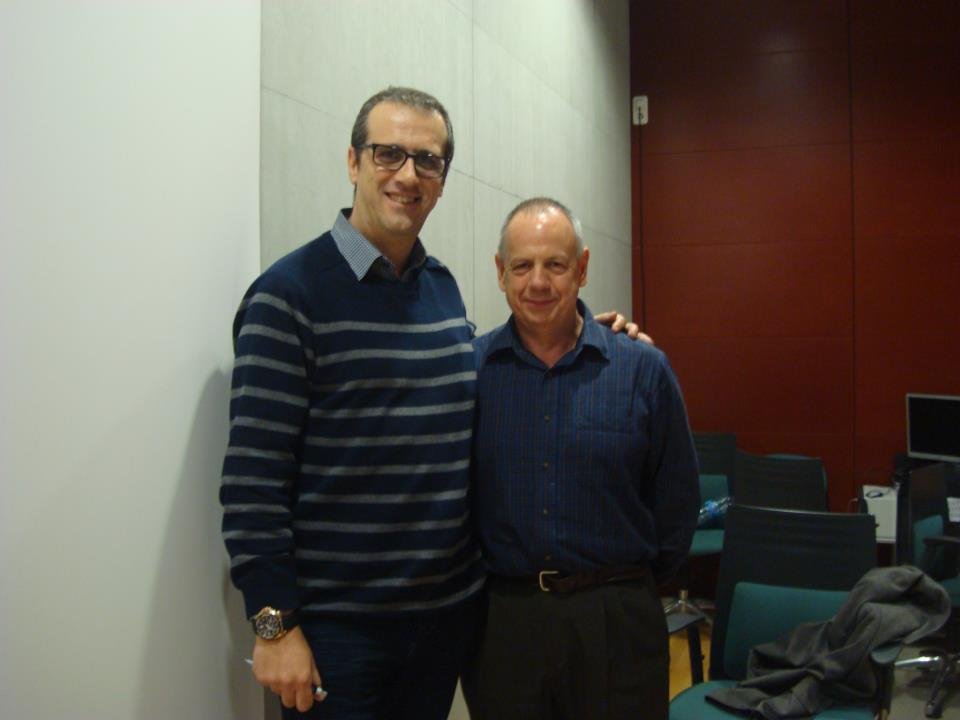 Miguel Ángel Jiménez Ortiz con David Kingdon