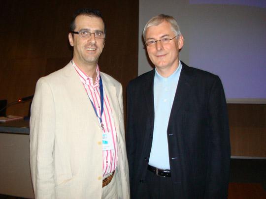 Miguel Ángel Jiménez Ortiz con David M. Clark
