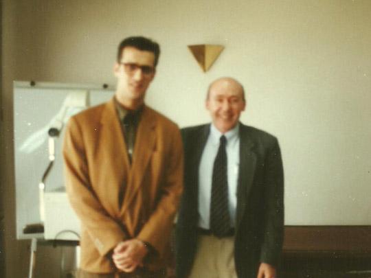 Miguel Ángel Jiménez Ortiz con Enrique Echeburúa