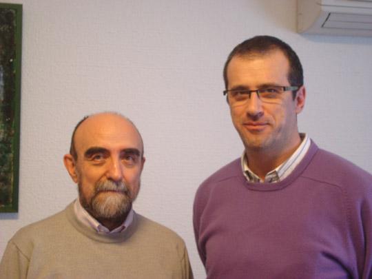 Miguel Ángel Jiménez Ortiz con Jose Antonio García Higuera