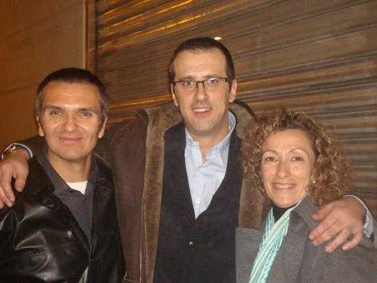 Miguel Ángel Jiménez Ortiz con Juan Sevillá y Carmen Pastor