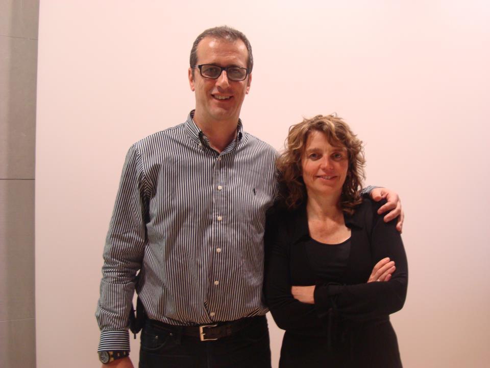 Miguel Ángel Jiménez Ortiz con Patricia Van Oppen