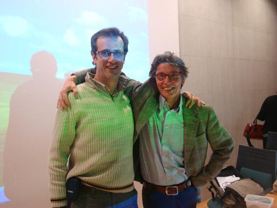 Miguel Ángel Jiménez Ortiz con Paul Emmelkamp
