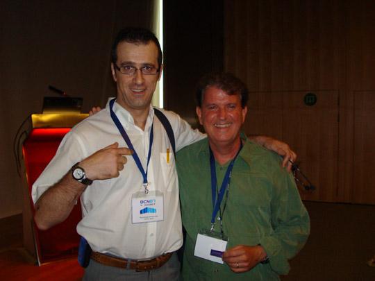 Miguel Ángel Jiménez Ortiz con Robert Leahy